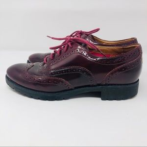 Sperry Top Sider Wine Colored Oxfords
